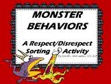 Monster Behaviors - A Respect vs. Disrespect Behavior Sorting Activity