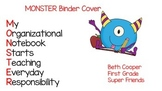 Monster Binder or Daily Folder Cover Sheet