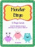 Monster Bingo 5 Cards
