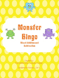 Monster Bingo: Addition and Subtraction