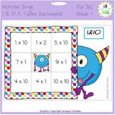Times Tables Monster Multiplication Bingo: 1 & 10 x Backwards