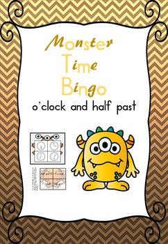 Monster Bingo: o'clock and half past