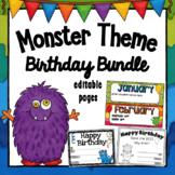 Birthday - Monster Theme - Editable