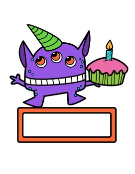 Monster Birthday Clipart
