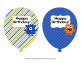 Monster Birthday Balloons (4 different designs)