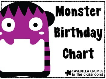 Monster Birthday Chart