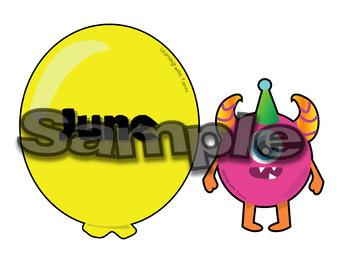 Monster Birthday Clip Art Bundle
