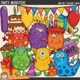 """Monster Birthday Clip Art: """"Party Monsters"""""""