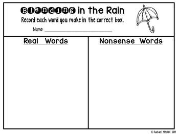 Blending for All Seasons: Word Work Games- Aligned with 1st Grade CC