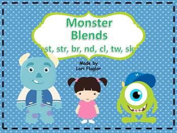 Monster Blends Word Work