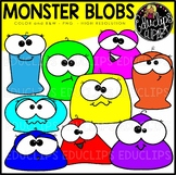 Monster Blobs Clip Art Bundle {Educlips Clipart}