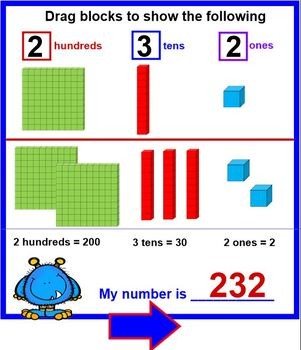 Monster Blocks - Deconstructing Numbers with BASE 10 Blocks