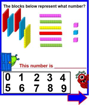 Monster Blocks - Deconstructing Numbers with BASE 10 Blocks SMARTBOARD