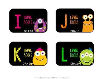 Book Bin Labels {Monster Theme}