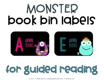Monster Book Bin Label Set {Guided Reading}