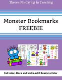 Monster Bookmark Freebie