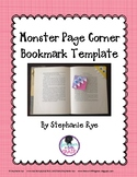 Monster Bookmark Template Freebie