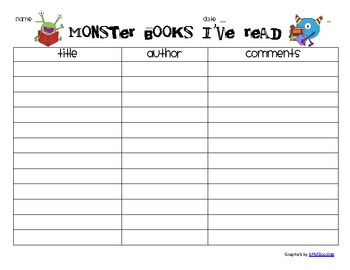 Monster Books I've Read