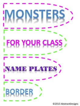 Monster Borders and Name Plates