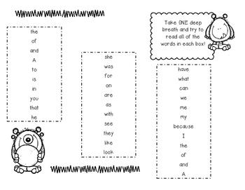 Monster Breath Boxes for Kindergarten