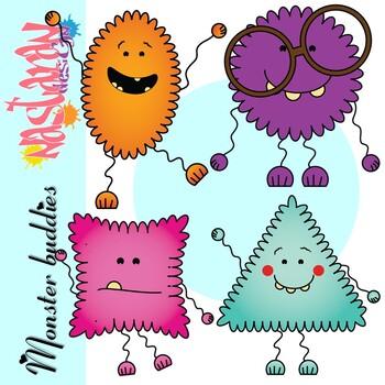Monster Buddies Clipart