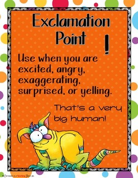 Monster Buddies - Monster Theme Punctuation Posters Set