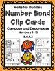 Monster Buddies Number Bond Clip Cards (FREEBIE!)