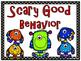 Monster Buddies Themed Behavior Clip Chart