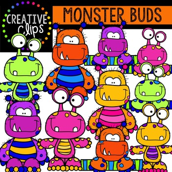 Monster Buds {Creative Clips Digital Clipart}