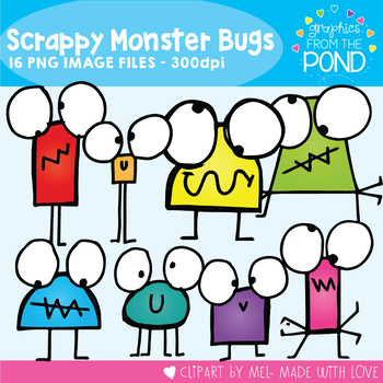 Monster Bugs - Scrappy Kids Clipart