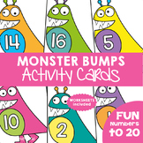Numbers to 20 Math Center {Monster Bumps Activity Cards}