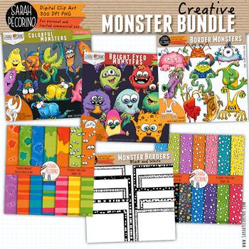 Monster Bundle - Clip Art, Digital Papers and Borders