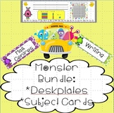 Monster Bundle - Deskplates and Subject cards for Daily Schedule