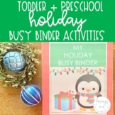 Holiday Busy Binder | Toddler and Preschool Learning Activities