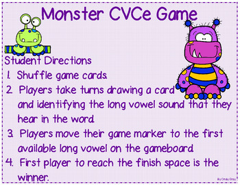 Monster CVCE Game