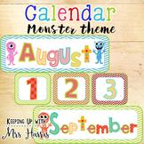 Calendar Display - Monster Classroom Calendar Set