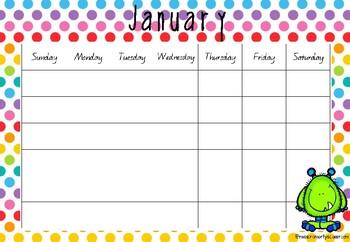 Monster Calendar