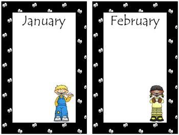Monster Calendar Bulletin Board Set