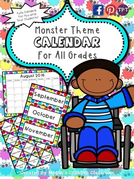 FREE Monster Calendar Classroom Essentials {Summer Celebration}