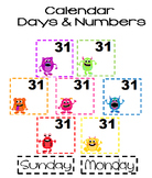 Monster Calendar Days and Number