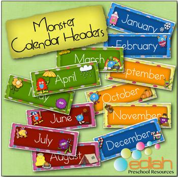 Monster Calendar Months