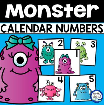 Monsters Calendar Numbers
