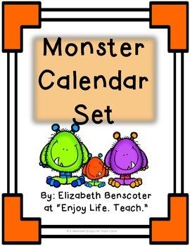 Monster Calendar Set