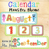 Calendar Display - Monster Classroom Calendar Set