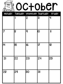 Monster Calendars 2017-2018