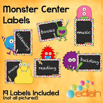 Monster Center Labels
