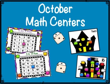 Literacy & Math Centers:  October--Monsters
