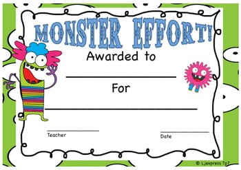 Monster Certificates