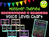 Monster Chalkboard and Chevron Voice Level Chart