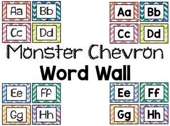 Monster Chevron Theme Bundle